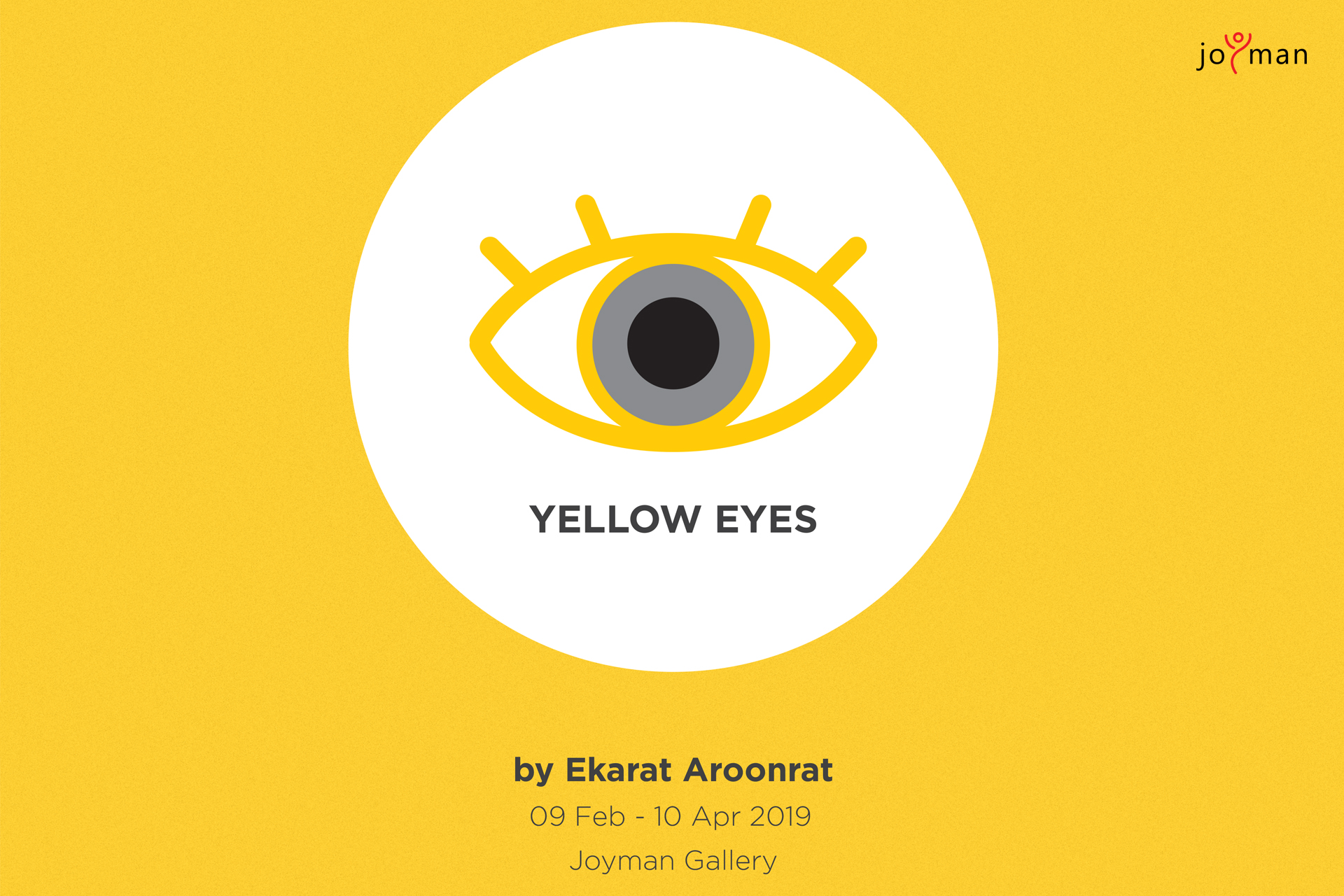 Exhibition Yellow Eyes banner