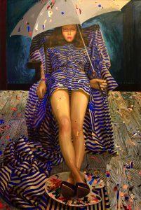 2010 Acrylic and oil on canvas 150 x 100 Cm.
