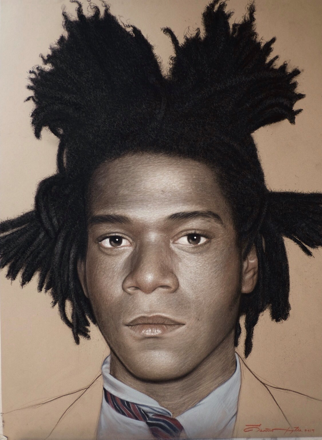 Jean-Michel Basquiat Size 75 x 55 cm Chacoal and Pastel on Paper (SOLD) 2019