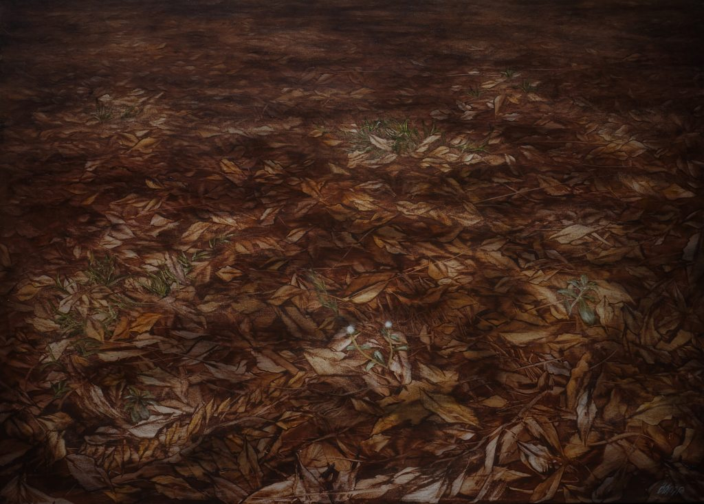 The beginning of the end Size : 100x140 cm Oil on canvas