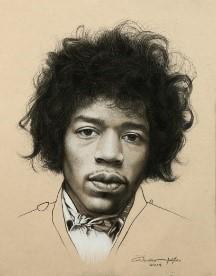 Jimi Hendrix 34x27 cm