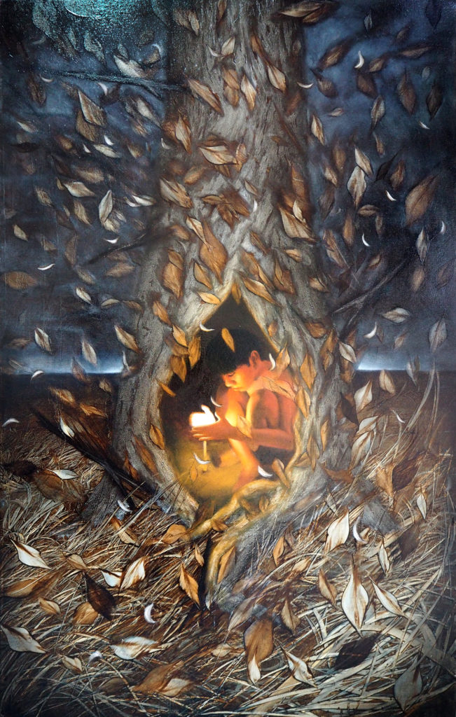 The Protector Size : 130x80 cm Oil on canvas