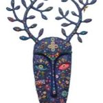 :   The Mask of Nature Lovers :   Jewel, Acrylic on fiberglass :   81 x 111 x 6 cm. :   2018