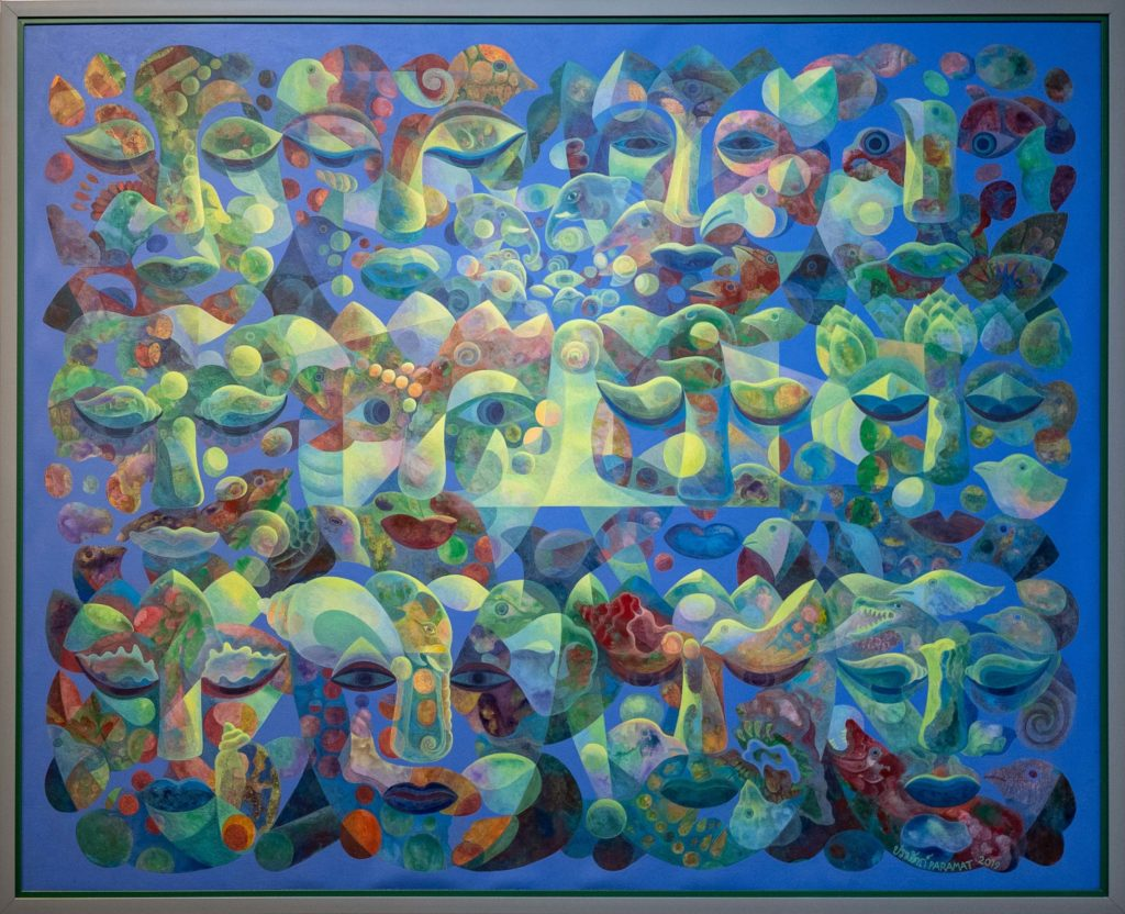Paramat Laung-on สติ Conscious  120 x 150 cm.  Acrylic on canvas