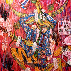 กาสรพาราควอท 100 x 120 cm Oil on canvas