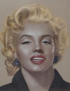Marilyn Monroe 97x78 Cm. Pastel on paper
