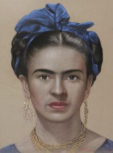 Frida Kahlo 97x78 Cm. Pastel on paper