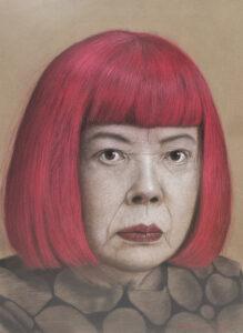 Yaoi Kusama 97x78 Cm. Pastel on paper